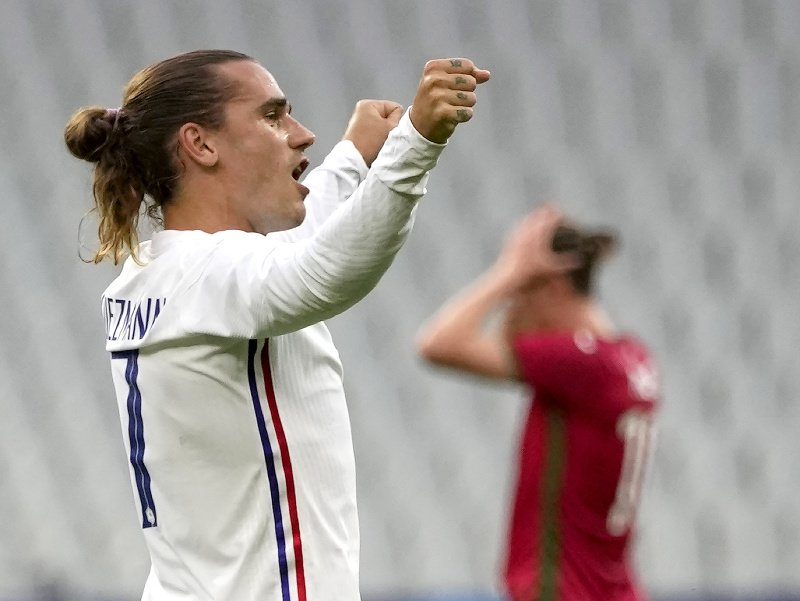 Antoine Griezmann pri oslave gólu