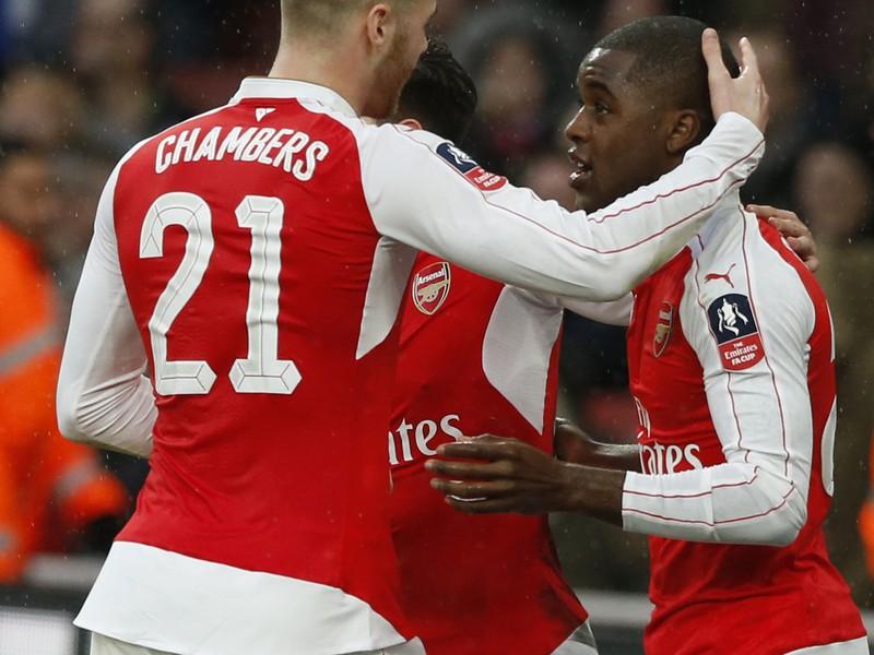 Radosť hráčov Arsenalu