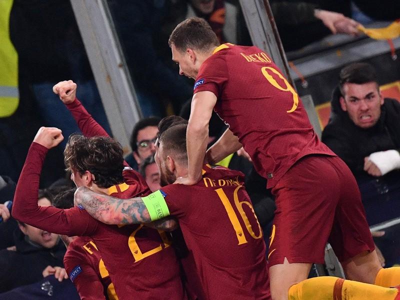 Radosť hráčov AS Rím