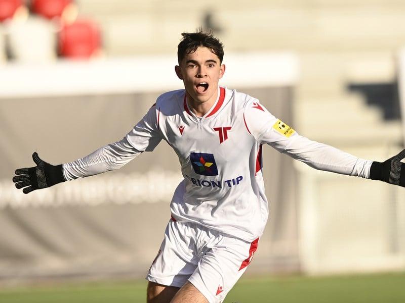 Lucas Demitra oslavuje gól