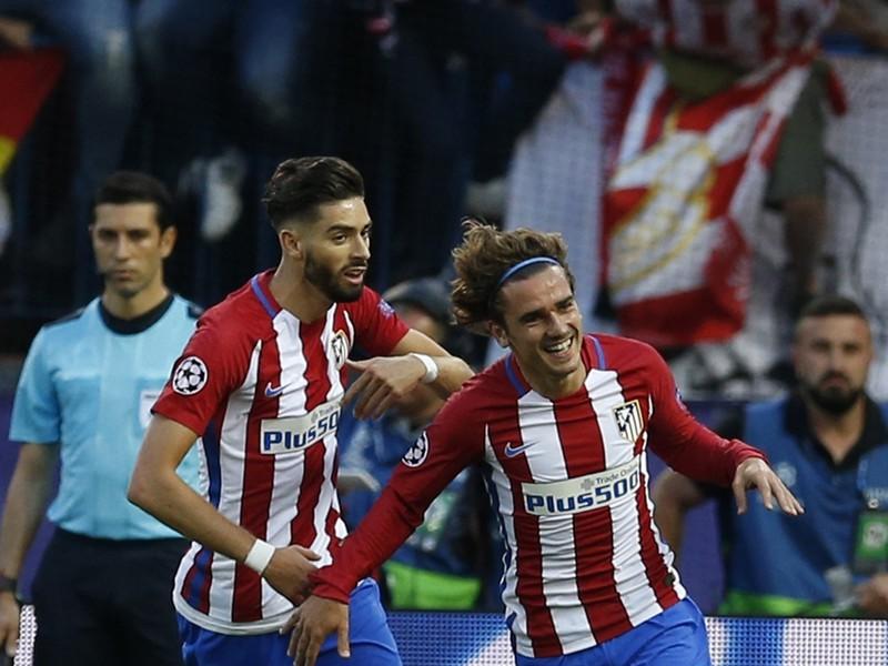 Antoine Griezmann oslavuje gól