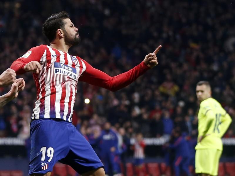Diego Costa oslavuje gól