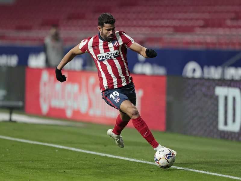 Diego Costa v drese Atlética Madrid