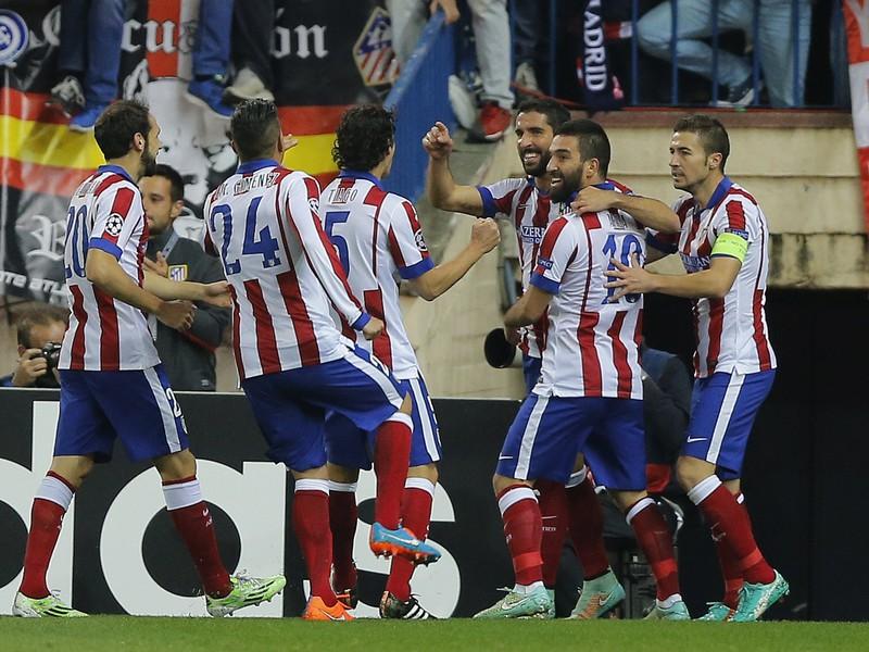 Gólové oslavy futbalistov madridského Atlética