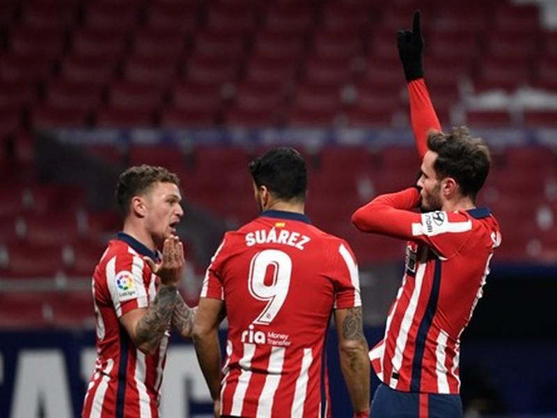 Futbalisti Atlética Madrid oslavujú gól