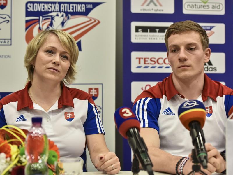Ján Volko a jeho trénerka Naďa Bendová