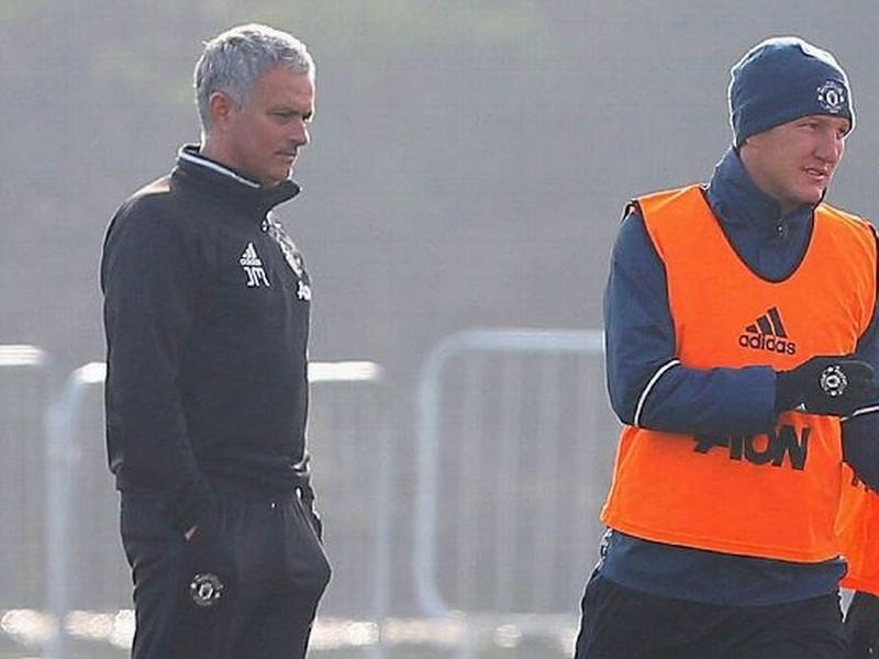 José Mourinho a Bastian Schweinsteiger