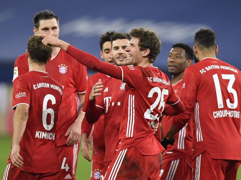 Radosť futbalistov Bayernu Mníchov