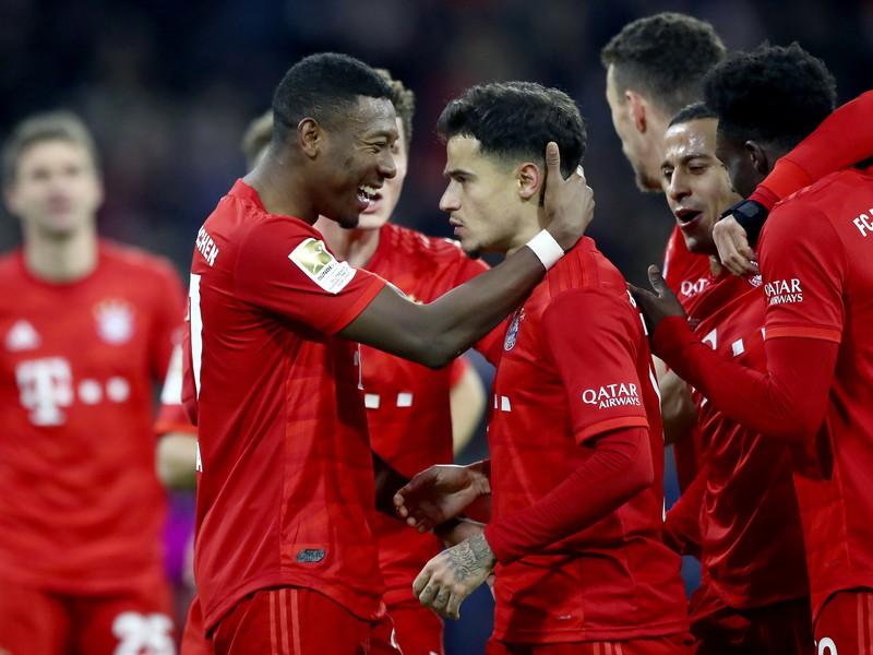 G�lov� oslavy futbalistov Bayernu