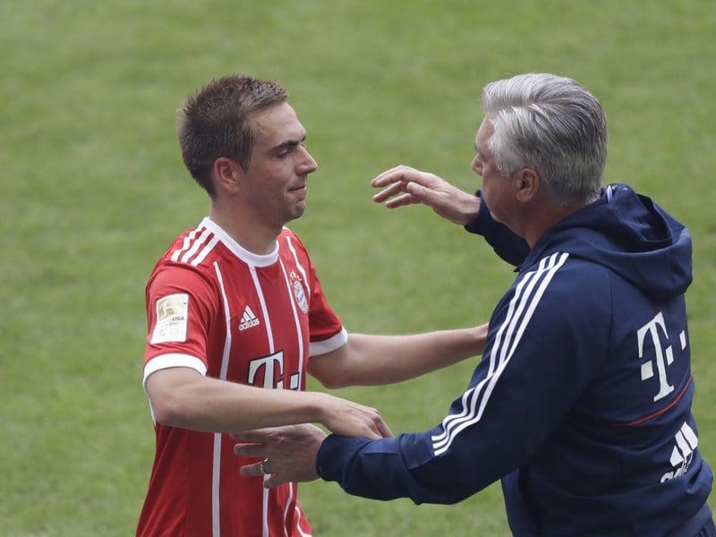 Philipp Lahm a Carlo Ancelotti
