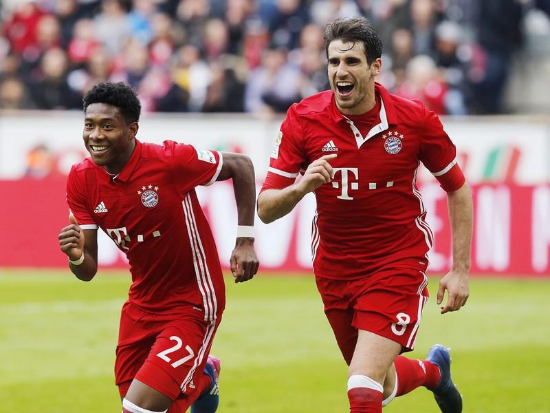 Radosť hráčov Bayernu Mníchov