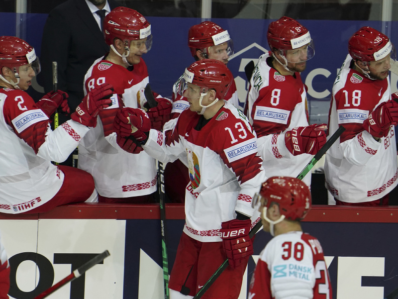 Bielorusi sa tešia po góle