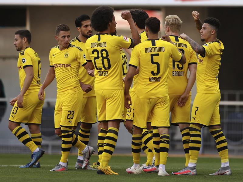 Radosť hráčov Borussie Dortmund