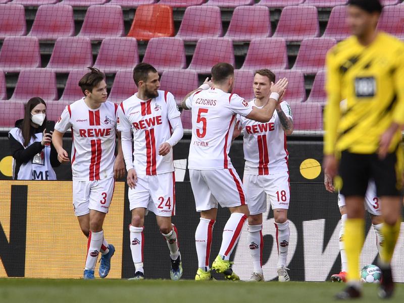 Futbalisti Kolína sa radujú z gólu v sieti Dortmundu