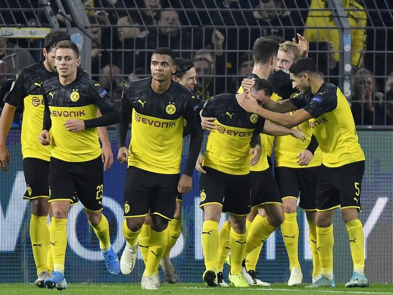 Radosť hráčov Dortmundu