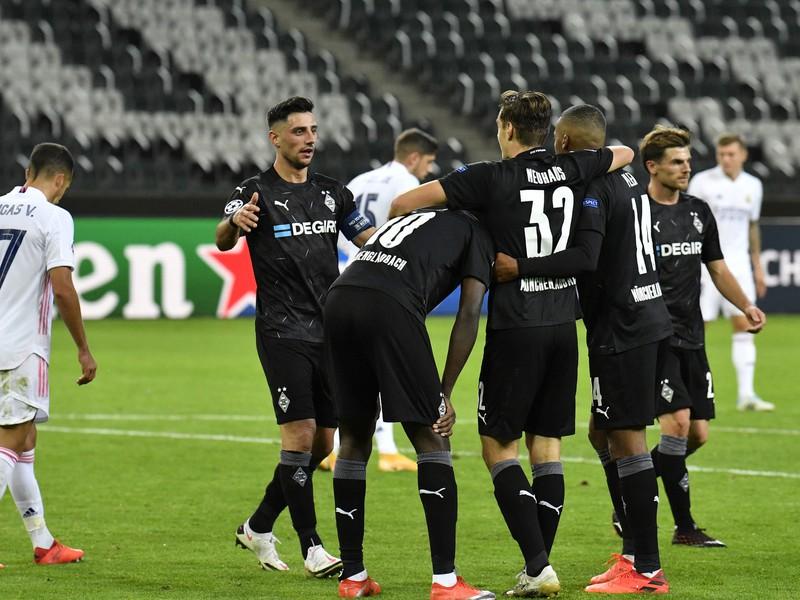 Gólové oslavy hráčov Mönchengladbachu