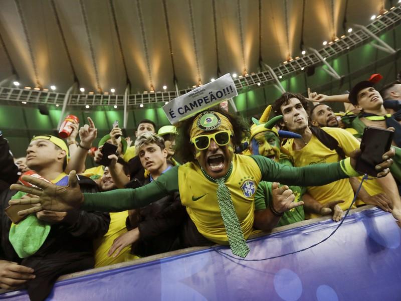 Brazílski fanúšikovia počas Copa América