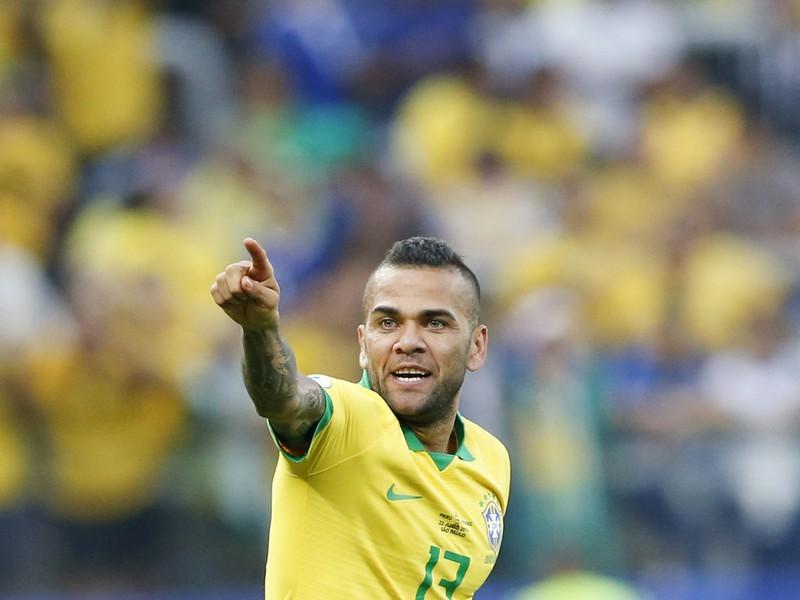 Dani Alves a jeho gólová radosť