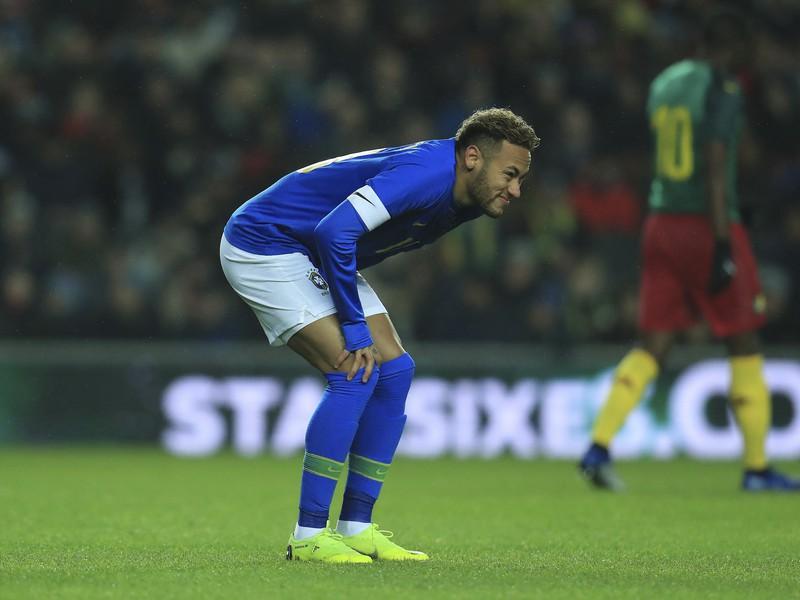 Zranený Neymar