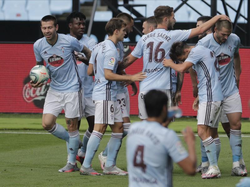 Gólová radosť hráčov Celty Vigo