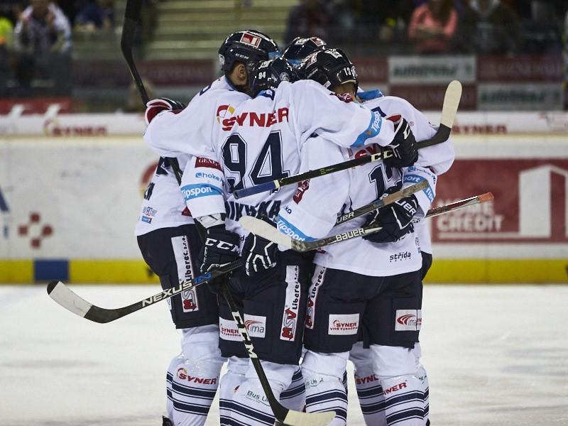Gólové oslavy hokejistov Liberca