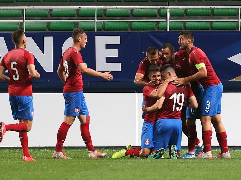 Gólové oslavy mladíkov Česka