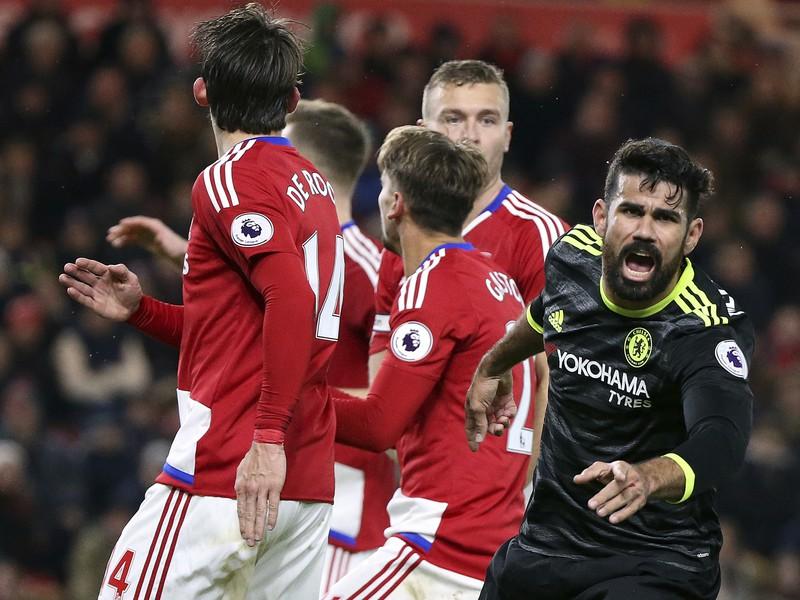 Diego Costa sa teší z gólu