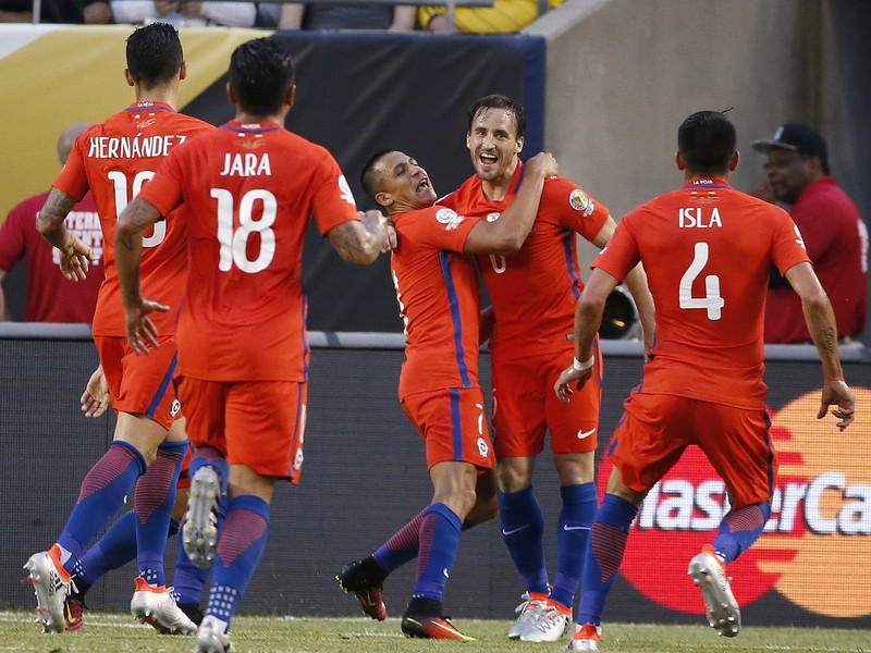 Radosť hráčov Čile