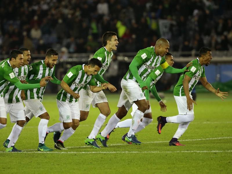 Hráči Atlética Nacional Medellín sa tešia z tretieho miesta