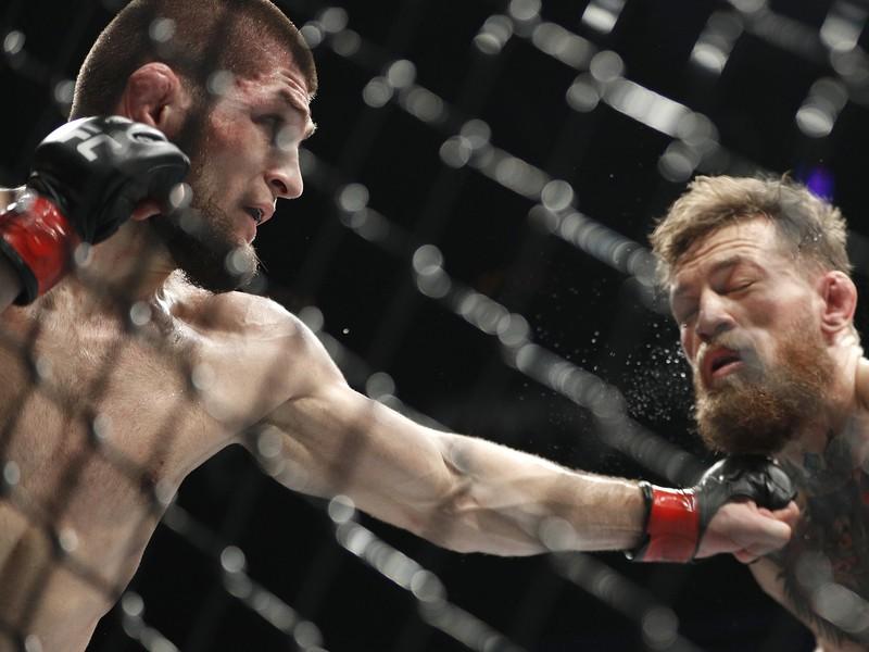 Khabib Nurmagomedov v súboji s Conorom McGregorom