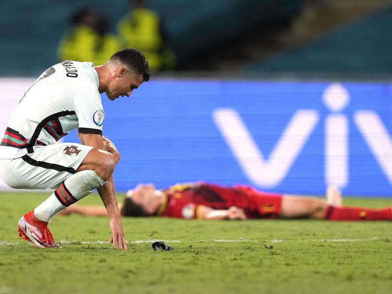 Kapitán Cristiano Ronaldo po prehre Portugalska