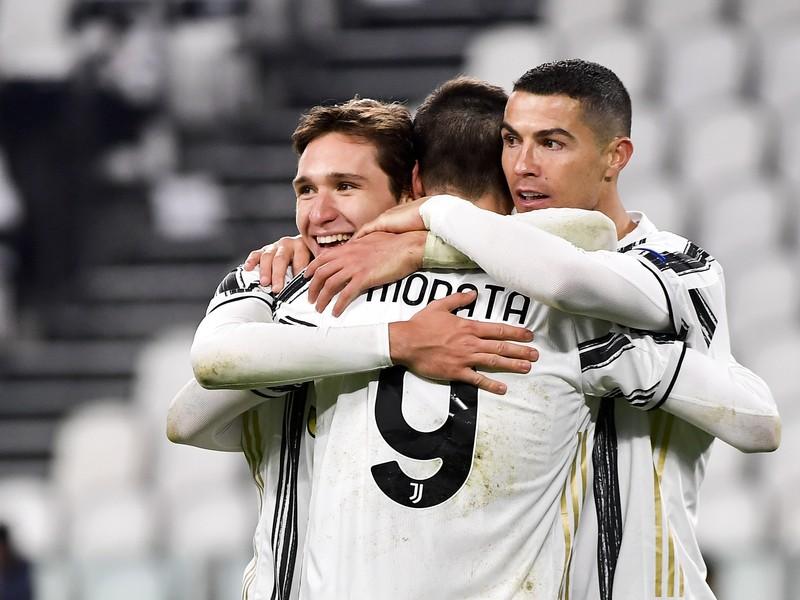 Radosť hráčov Juventusu Turín