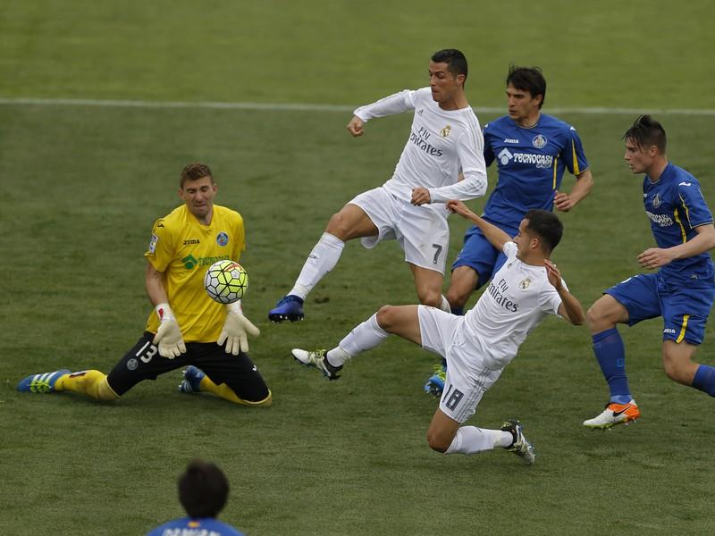 Cristiano Ronaldo v gólovej šanci