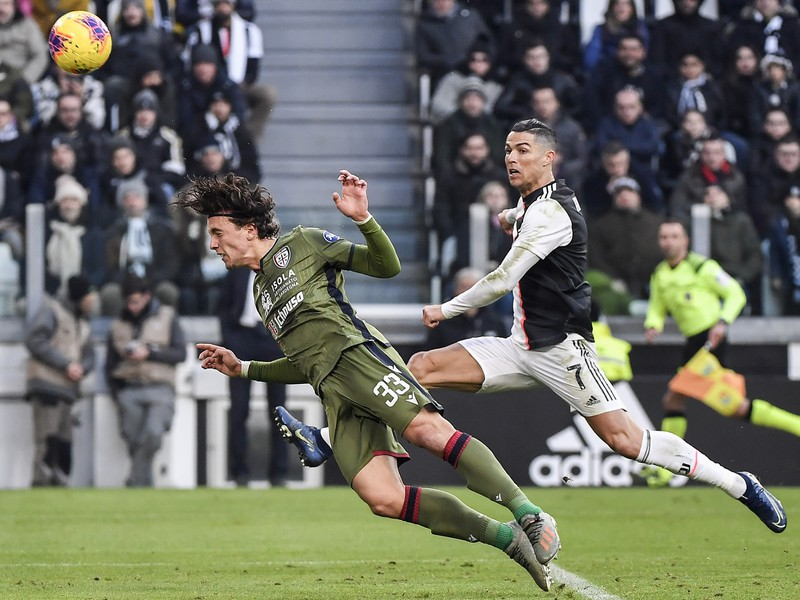 Cristiano Ronaldo a Luca Pellegrini