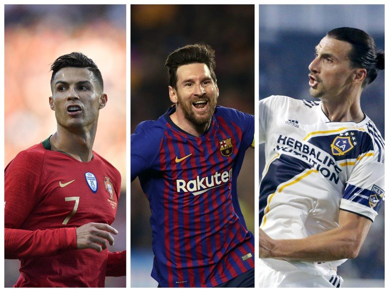 Cristiano Ronaldo, Lionel Messi a Zlatan Ibrahimovič