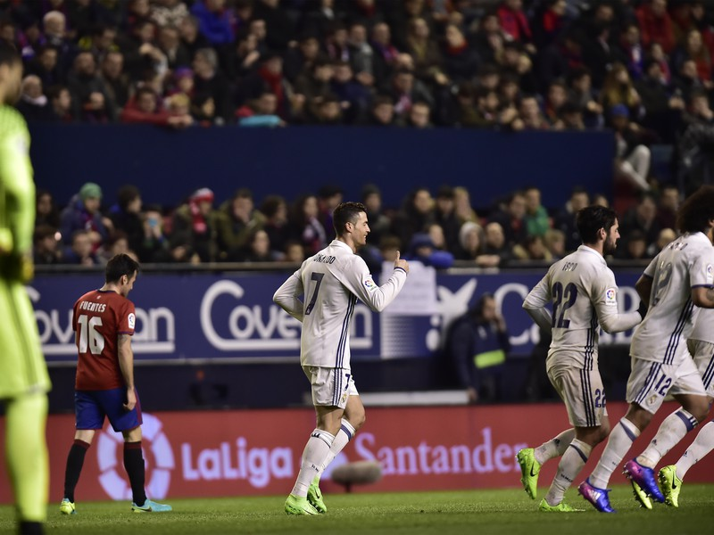 Cristiano Ronaldo oslavuje gól Realu