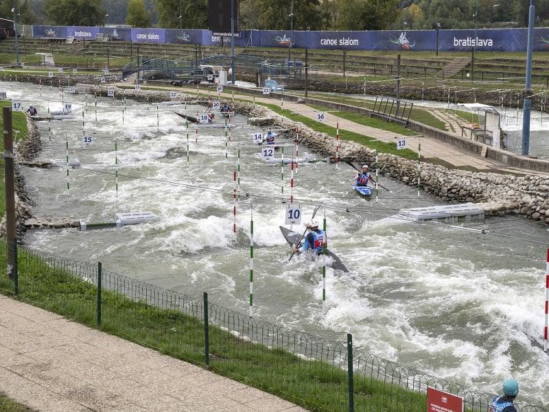 Na snímke zrekonštruovaný vodnoslalomový kanál pred blížiacimi sa majstrovstvami sveta v kanoistike na divokej vode v Bratislave - Čunove