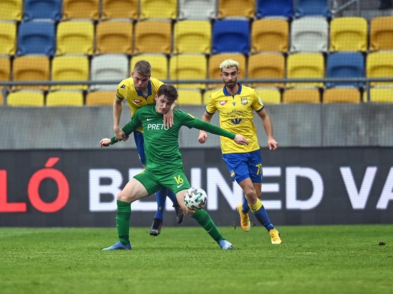 Momentka zo zápasu DAC Dunajská Streda - MŠK Žilina