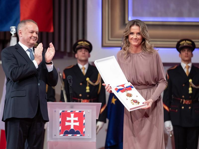 Prezident Slovenskej republiky Andrej Kiska udelil v utorok Rad Ľudovíta Štúra I. triedy za mimoriadne zásluhy Daniele Hantuchovej