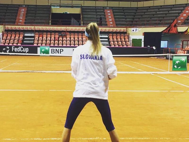 Daniela Hantuchová na tréningu