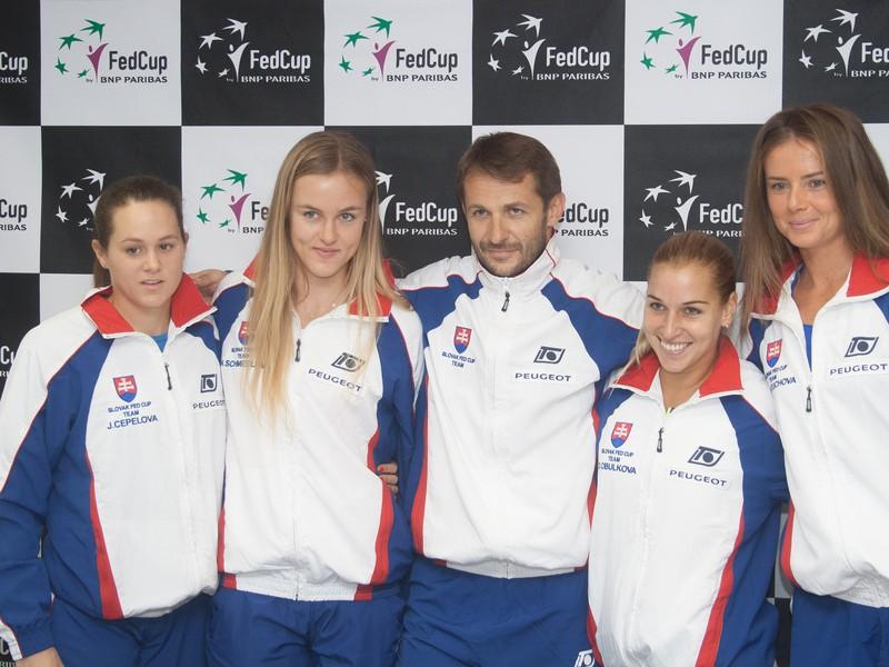 Jana Čepelová, Karolína Schmiedlová, Matej Tóth, Dominika Cibulková a Daniela Hantuchová