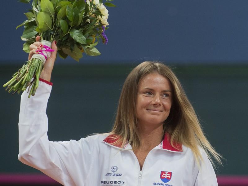 Daniela Hantuchová si ako prvá slovenská tenistka pereberá cenu za oddanosť reprezentácii v Pohári federácie