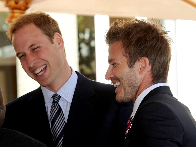 Princ William a David Beckham