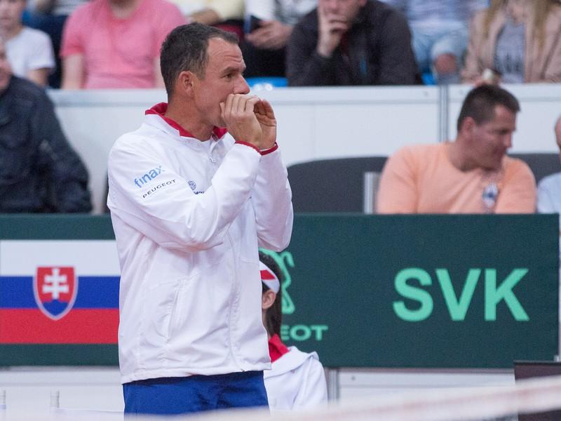 Nehrajúci kapitán slovenského daviscupového tímu Dominik Hrbatý