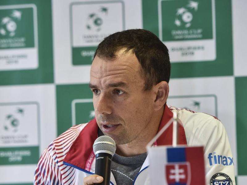 Kapitán daviscupového tímu Slovenska Dominik Hrbatý