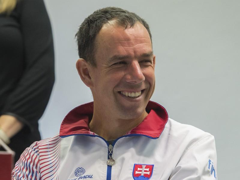 Na snímke slovenský nehrajúci kapitán Dominik Hrbatý