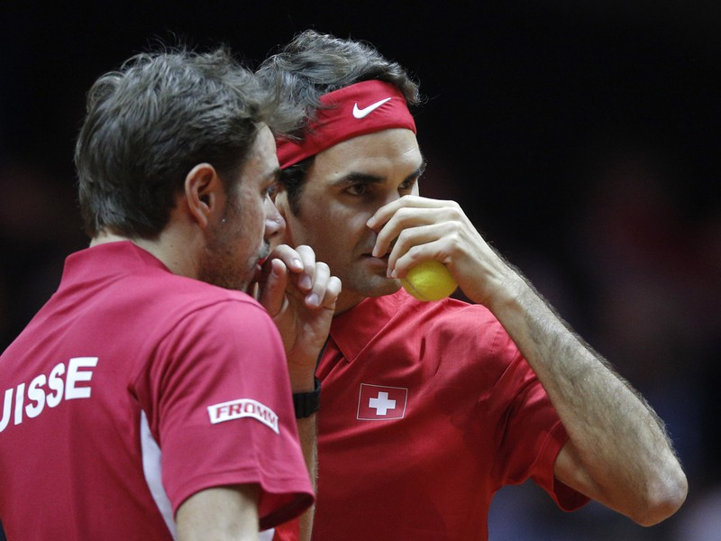 Roger Federer a Stan Wawrinka