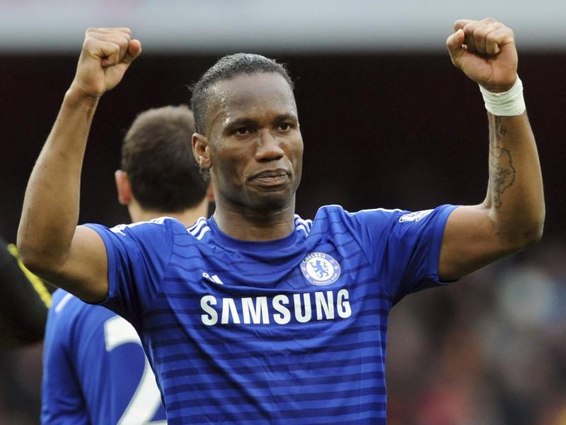 Didier Drogba v drese londýnskej Chelsea