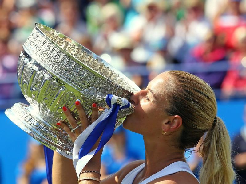 Dominika Cibulková v Eastbourne dosiahla na tráve svoj premiérový triumf