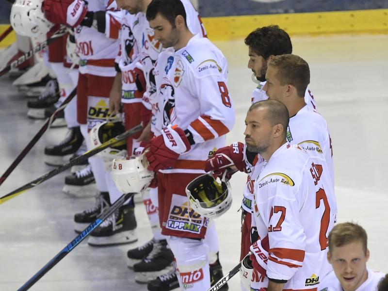 Na snímke hráči DVTK Jégesmedvék Miškovec
